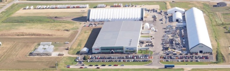 ClearSpan Fabric Structures manufacturing and distribution facilites in Dyersville, IA.