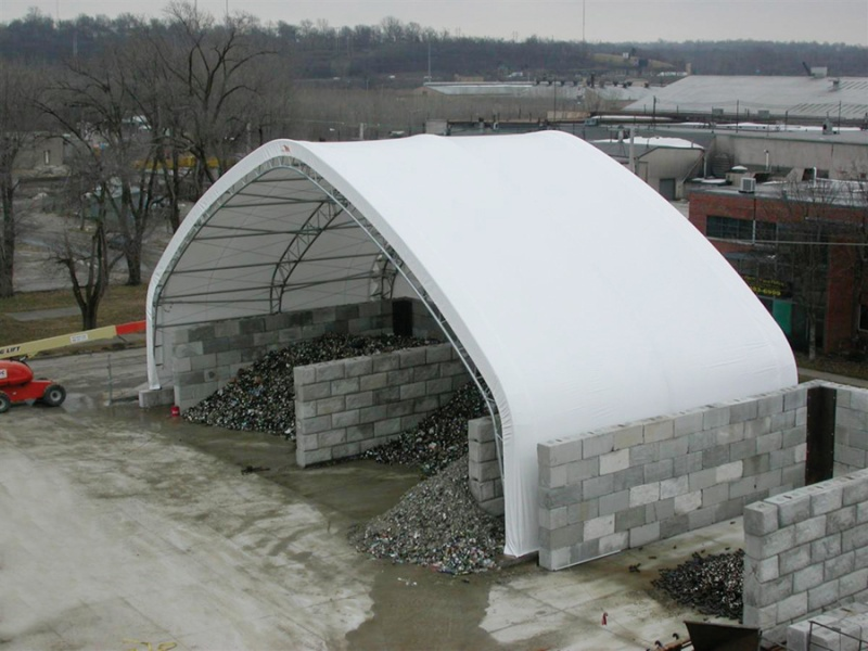 Glass Recycling Center by ClearSpan Fabric Structures