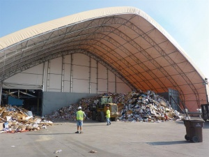 Recycling Building by ClearSpan Fabric Structures