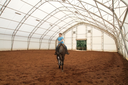 Fabric indoor at Five Star Performance Horses