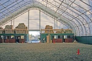 Fabric horse barn