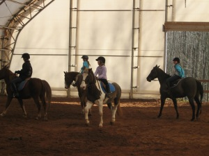 Riding demonstration