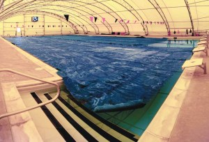 Indoor military swimming pool