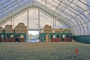 Fabric indoor arena