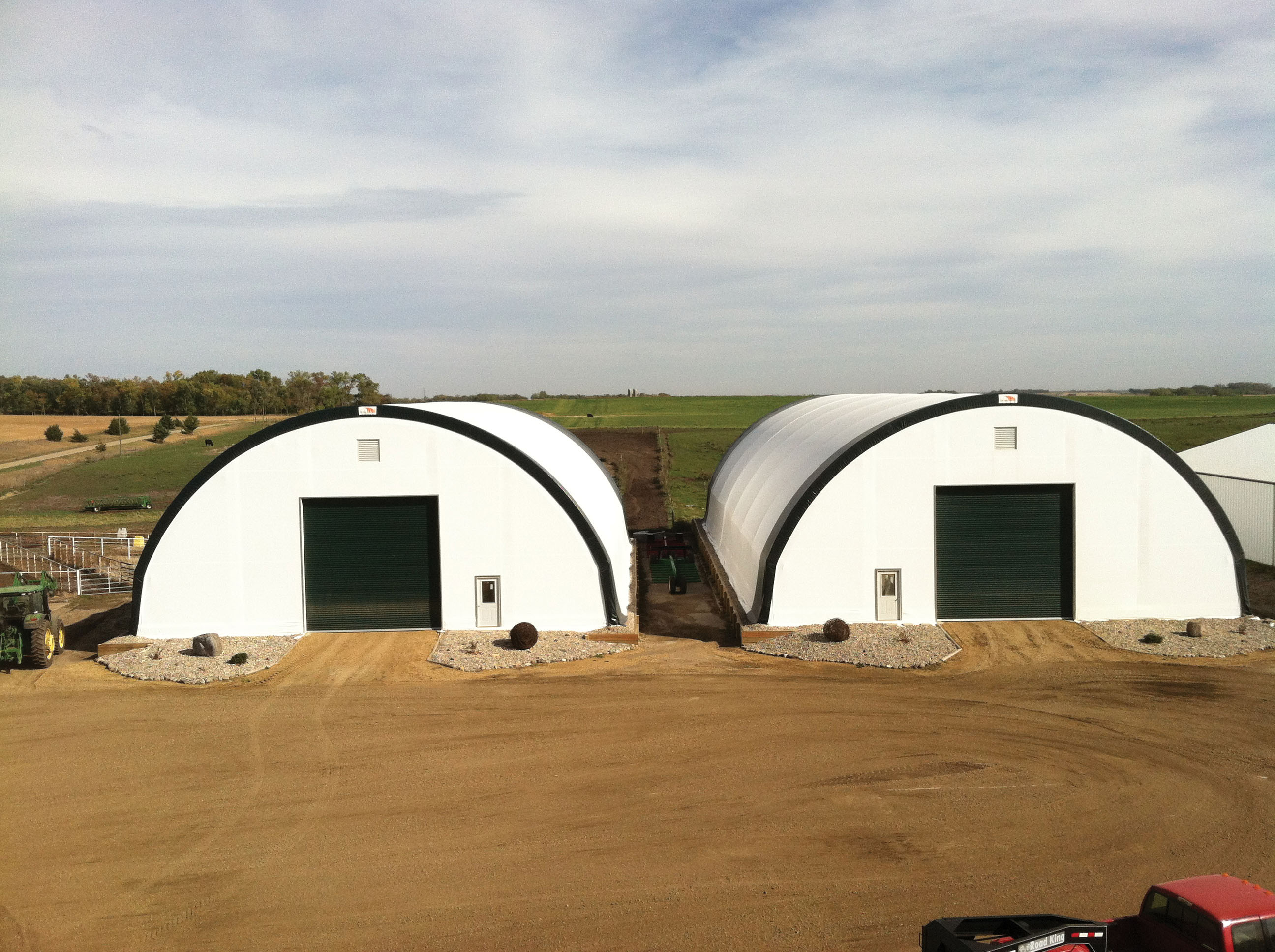 Fabric Carports And Garages : Clearspan building uses fabric structures