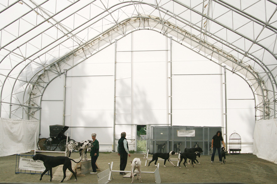 Service Dog Project 60'W x 80'L Hercules Truss Arch