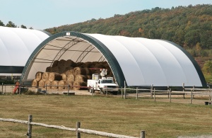 ClearSpan Hay Storage