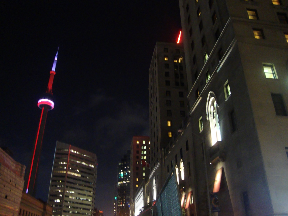 Night scene of Toronto, Canada