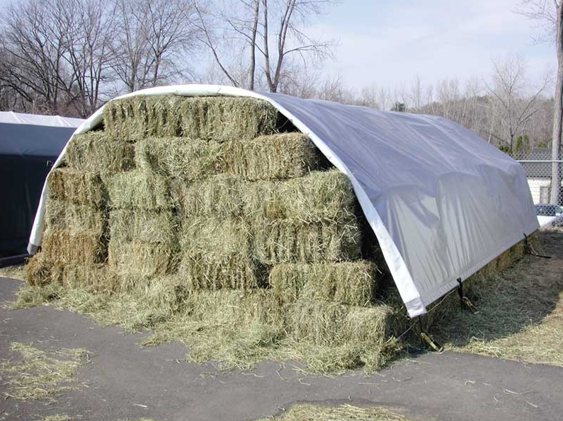 Metal Hay Covers : Hay how should you store it clearspan fabric
