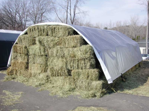 Cover with a hay tarp