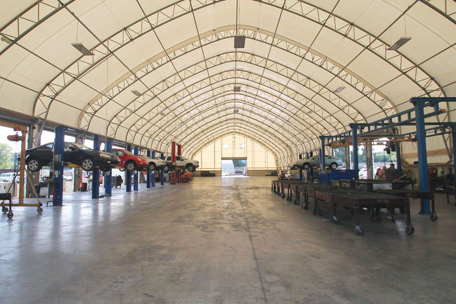 Build your building clearspan style clearspan fabric for Clear span garages