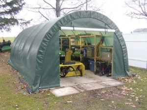 ClearSpan Storage Shed