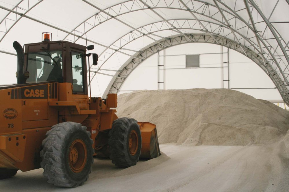 Salt Storage in a ClearSpan Fabric Structure