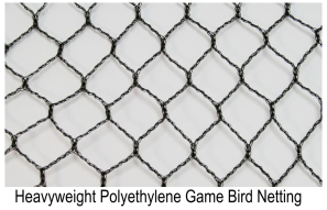 Heavyweight Polyethylene Game Bird Netting