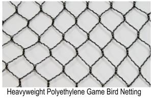 Heavyweight Polyethylene Game Bird Netting