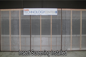 Installed insect screening