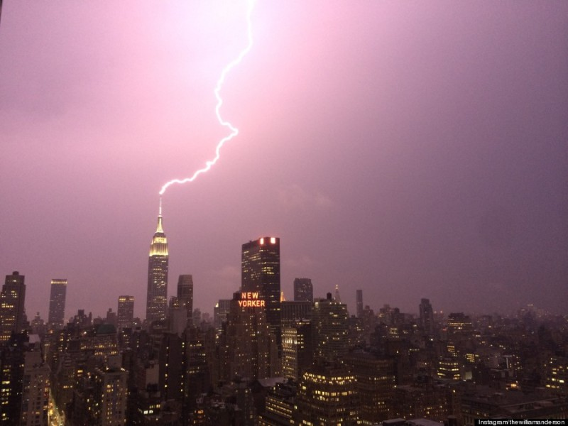 Lightning at Empire State Building