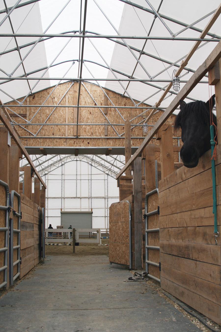 Clean livestock barn