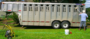Cleaning trailer
